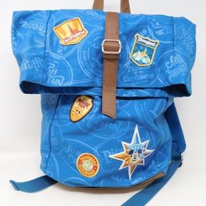 Disneyland Parks Blue Fold Over Backpack Bag
